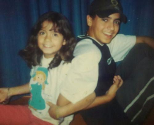 Marcela e Bruno (irmão)