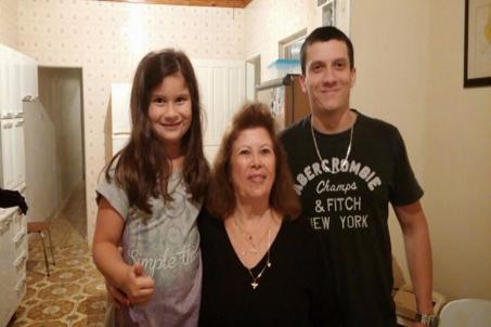 Sophia; Odete (Avó) e Vinícius (Irmão)
