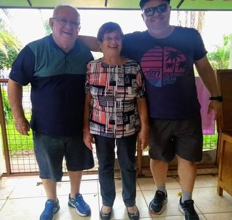 Rui Barboza (pai) - Regina(mãe) e Ricardo (irmão)